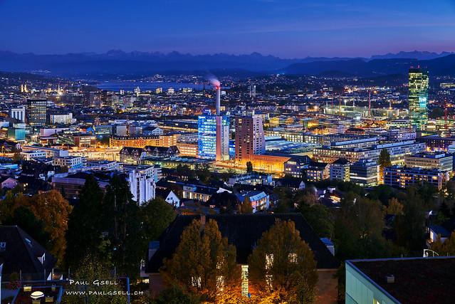 Zurich, Switzerland by night