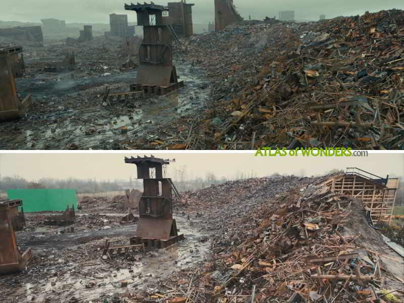 Scrapyard and shipyard