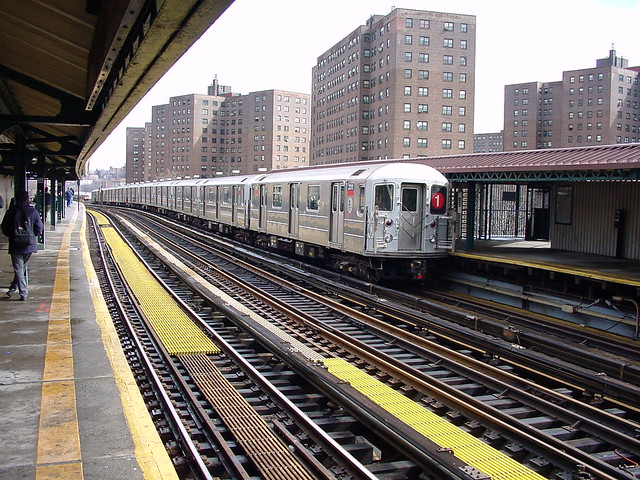 US NY NYC Subway R-62A 2311 225th Street (Rt 1) IRT West Side Line 3-12-2000 (6124)