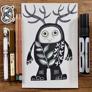 Forest Creature - Art Snacks June 2021 - 2