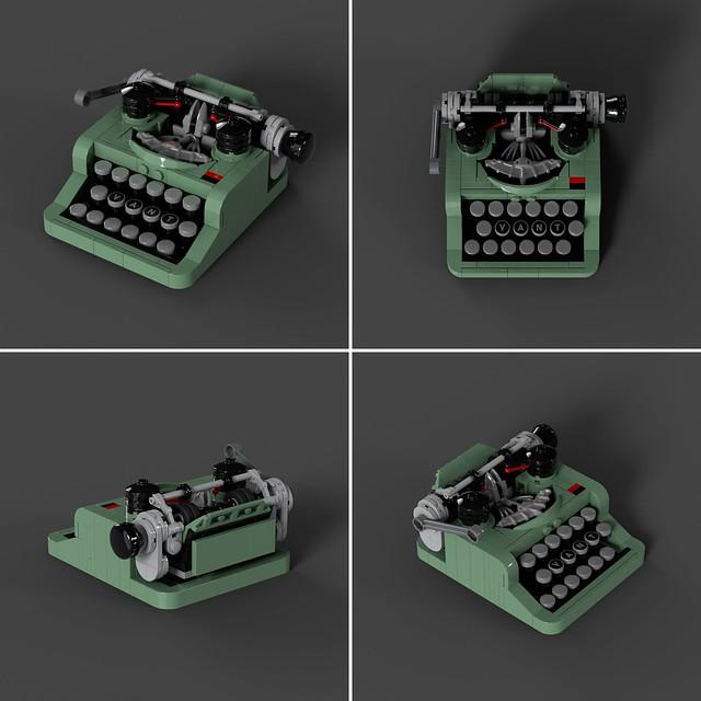 MOC : LEGO Mini Typewriter