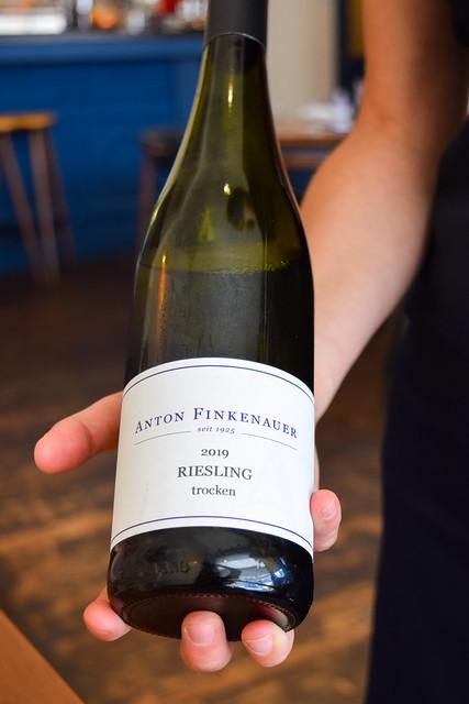 Anton Finkenauer 2019 Riesling at Hide & Fox, Saltwood