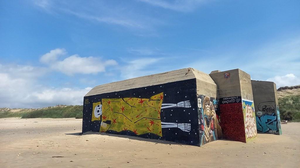 Vestiges du Mur de la, Montalivet (Gironde)
