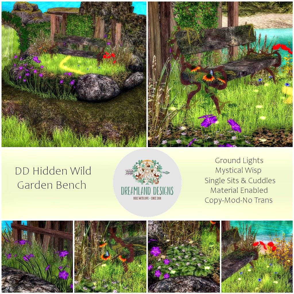 DD Hidden Wild Garden BenchAD