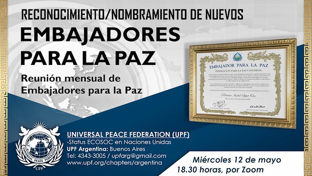Argentina-2021-05-12-UPF-Argentina's Welcome of New Ambassadors for Peace Attracts Over 100 Viewers