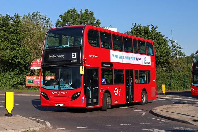 Route E1, London United, ADH45035, YX62FLH