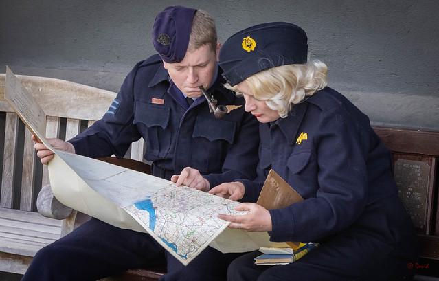1940's WW2 Airbase scenes.