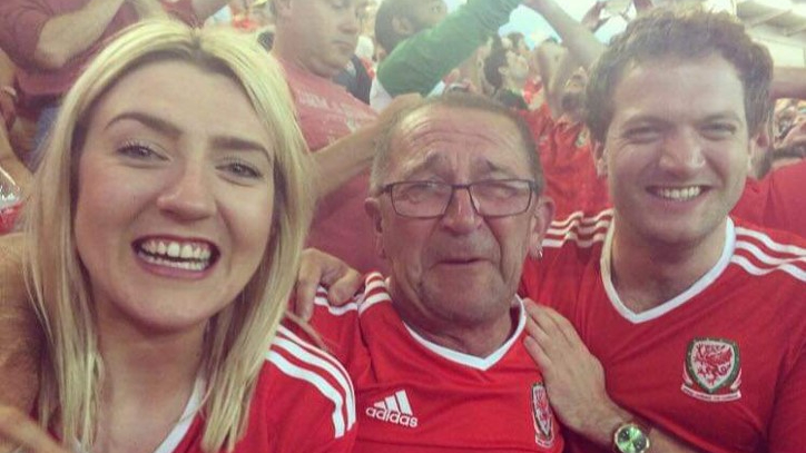 Welsh fans during Euro 2016.