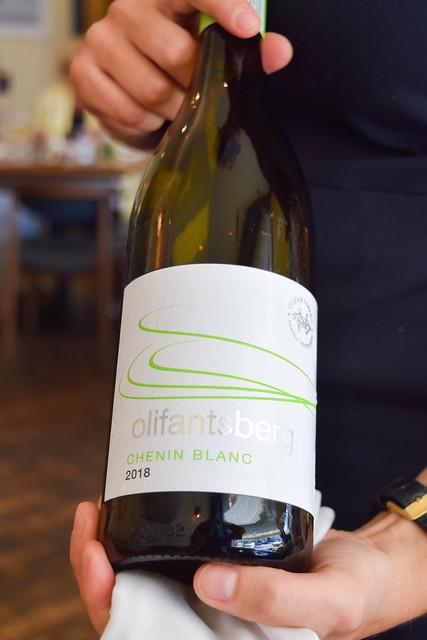 South African Olifantsberg Chenin Blanc at Hide & Fox, Saltwood