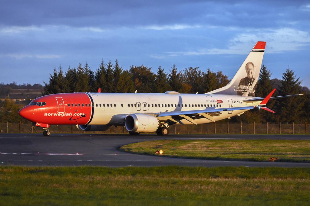EI-FYA Boeing B737 Max 8 EGPH 19-10-18