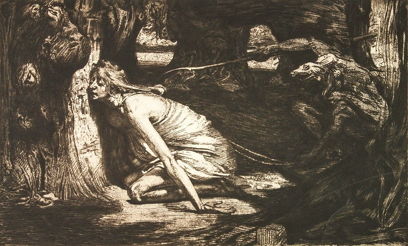 Marcel Roux - The Forest of Vice, 1907