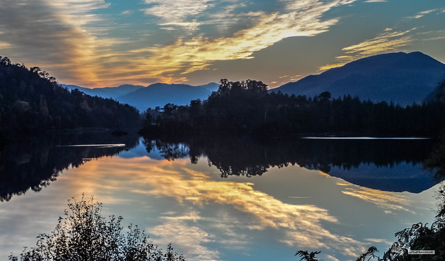 Glorious Glen Affric at sunset, Inverness-shire, Scotland.