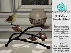 {SD} Bird's Nest Candle Holder