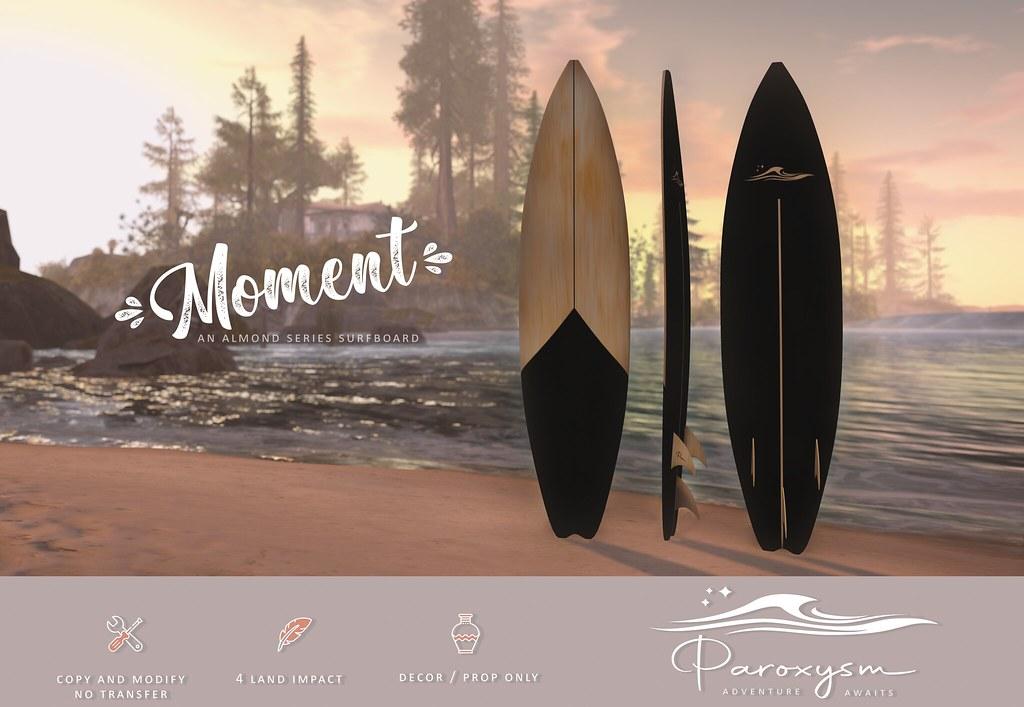 """PAROXYSM. """"Moment"""" Surfboard  (Black)"""
