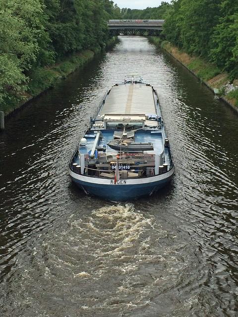 Berlin Teltowkanal Binnenschiff