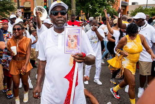 Perfect Gentlemen Second Line Parade on June 20, 2021. Photo by Ryan Hodgson-Rigsbee.