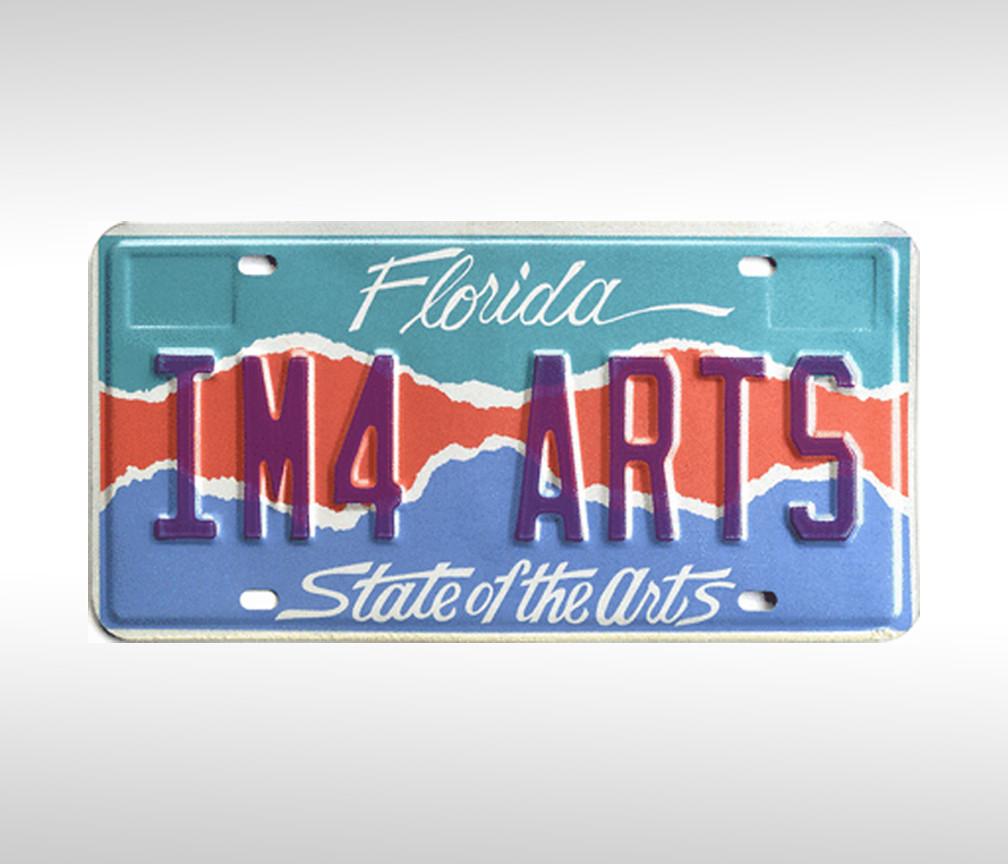 Arts Grants license plate