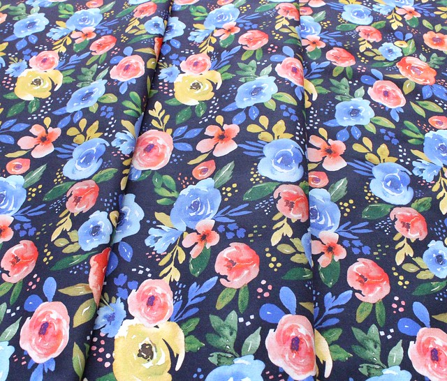 Felicity Fabrics Nightfall Floral in Evening 610116