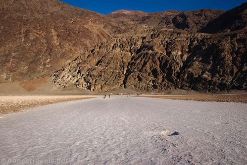 Almost back to Badwater Basin, Death Valley National Park, California