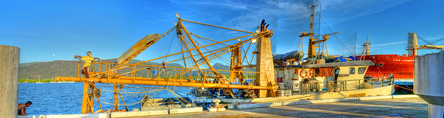 The Fishing Vessel Scarecrow and Rising Moon - Dec 5, 2014