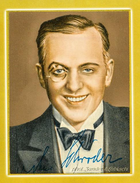 Arthur Schröder, 1933 Sammelbild 167