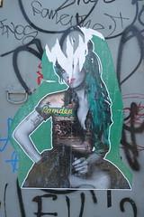 The Postman street art, Camden