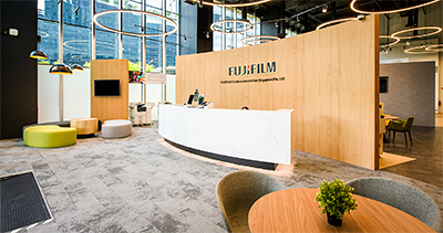 FUJIFILM Business Innovation houses over 800 employees in the new premise which comprises both a working office and a customer experience centre.