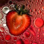 strawberry in oil