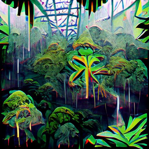 'rainforest' VQGAN+CLIP v4 Text-to-Image