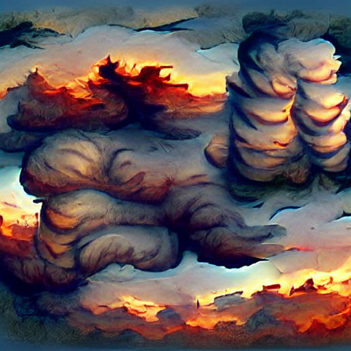 'clouds at sunset' VQGAN+CLIP v4 Text-to-Image