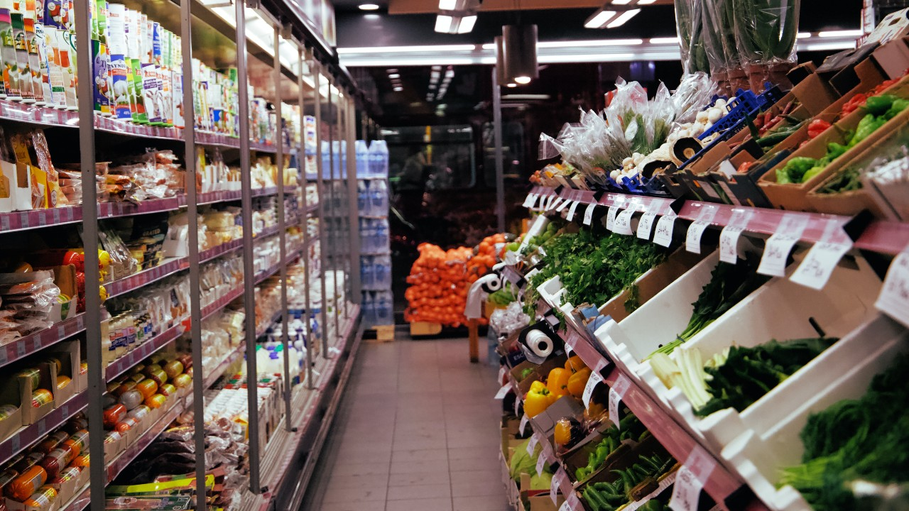 The fresh produce aisles of a grocery store