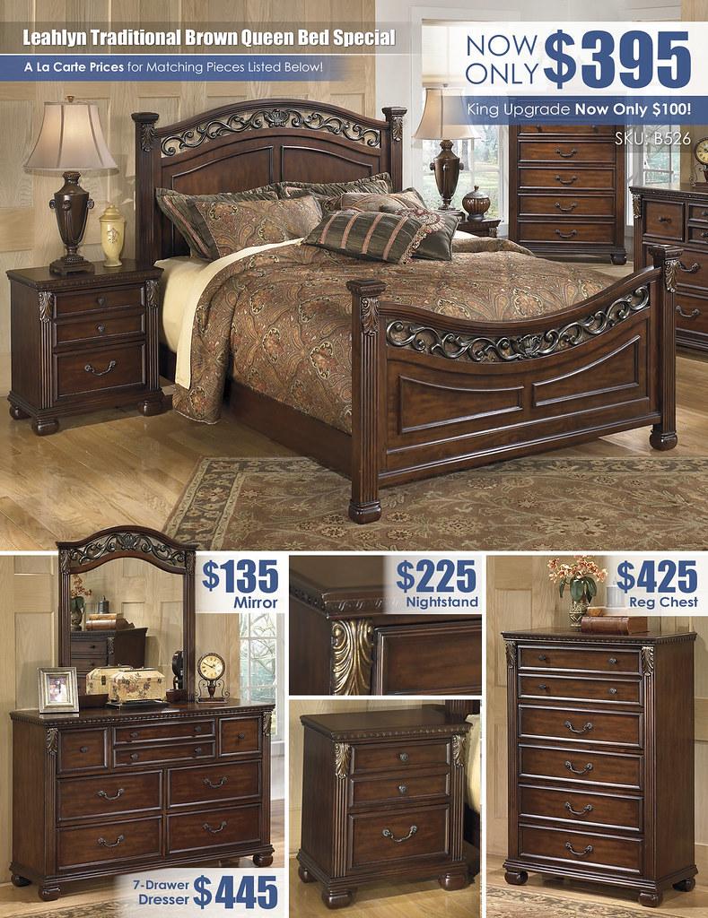 Leahlyn Brown Queen Bed_A La Carte_B526