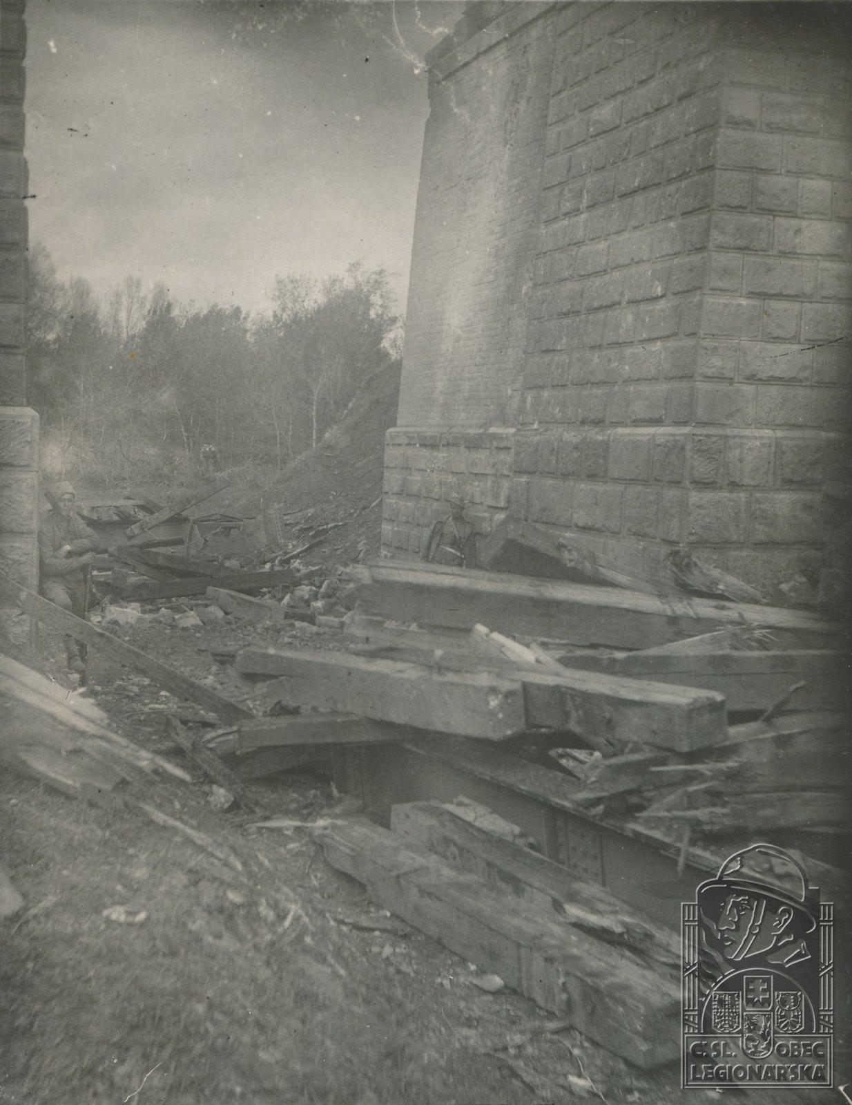 15. 1918. Мост, взорванный большевиками в бою под Сызранью