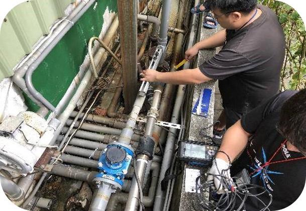 智慧水表流量檢查。照片提供:水利署