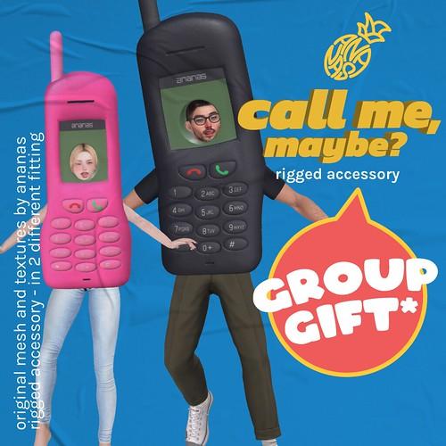 ❤️📱❤️ Ananas // Call Me, Maybe? @ Mainstore #GroupGift ❤️📱❤️