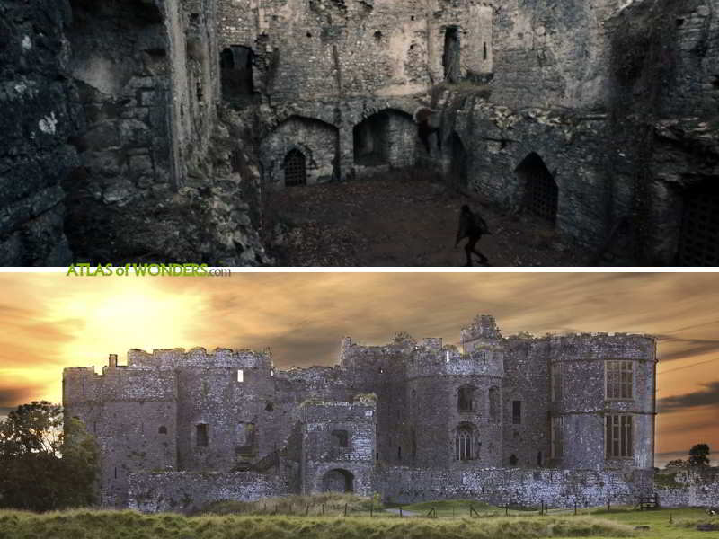 The Carew Castle in ruins