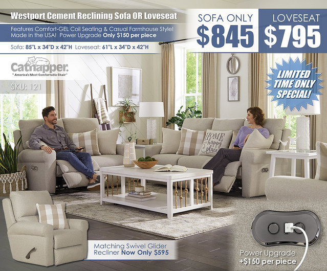Westport Cement Sofa OR Loveseat Collection_121
