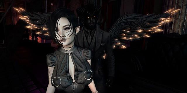 Demon over her shoulder