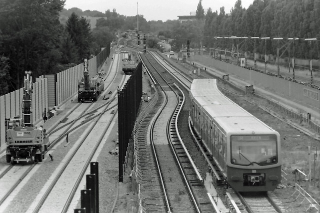 Berlin Baustelle DB Dresdner Bahn 22.6.2021