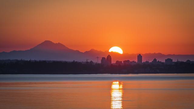 Sunrise over Victoria Skyline