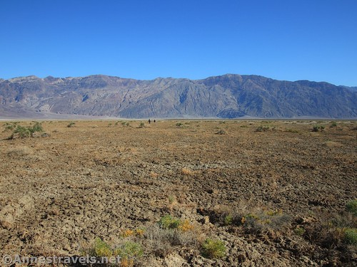 On the western side of Death Valley, looking back toward the Black Mountains and Badwater Basin, Death Valley National Park, California