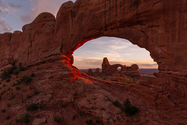Turret Arch in the Window