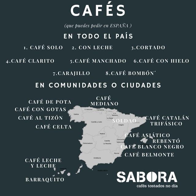 Cafés que puedes pedir en España