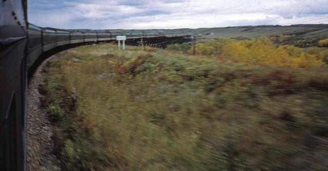 CN train, view, near, Alberta, Saskatchewan, border,   Sept 25,  1964