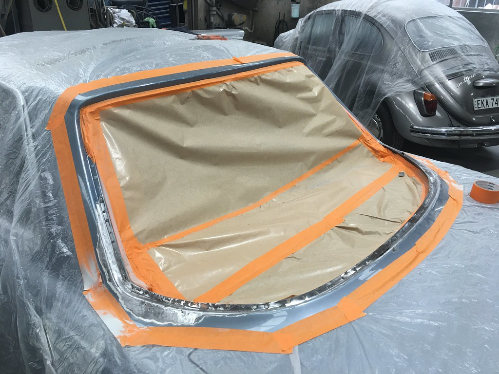 450SLC rear windscreen screen rust update