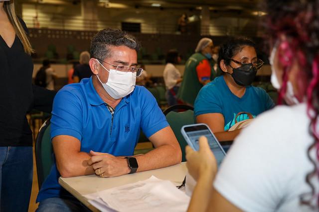23.06.21 - Prefeito David Almeida recebe 1ª dose da vacina contra a Covid-19