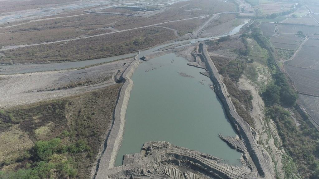 202106抗旱水井報導。地下水補注區-濁水溪河槽地下水補注。照片提供:水利署