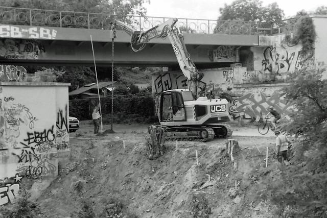 Berlin DB Baustelle Dresdner Bahn 22.6.2021