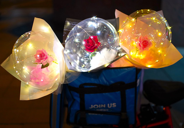 3 floral balloons