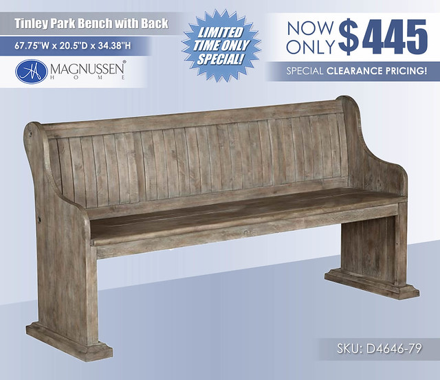 Tinley Park Bench with Back_D4646-79